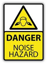 Danger noise hazard sign